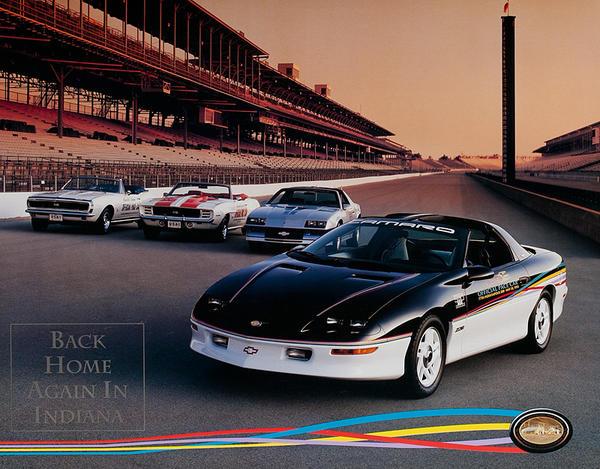 Camaro Back Home in Indiana Original American Automobile Advertising Poster