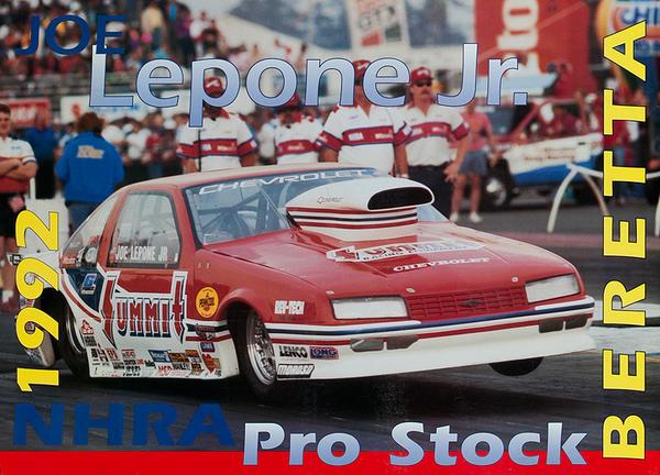 NHRA Pro Stock Beretta Original American Funny Car Racing Poster