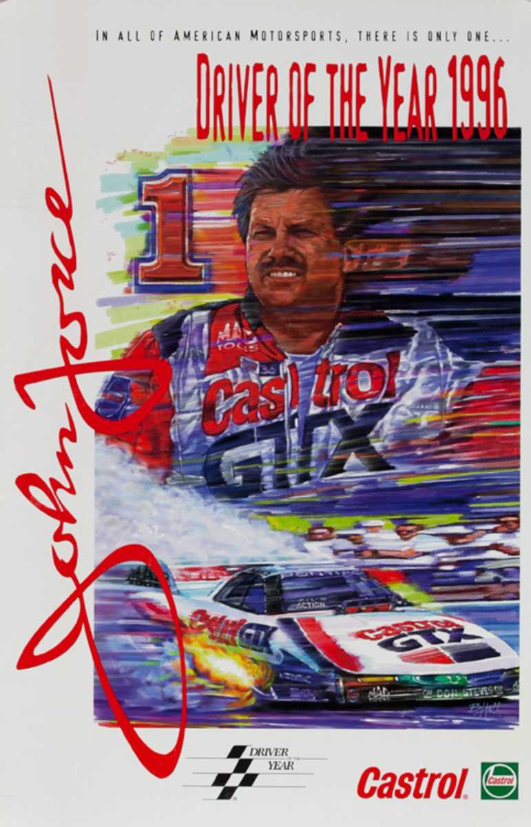 Castrol Driver of the Year John Force Original Advertising Poster