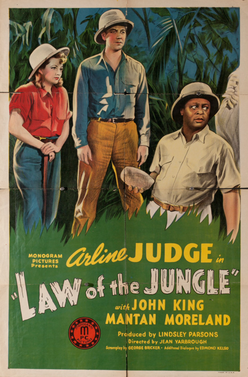 Law Of the Jungle Original American Movie Poster