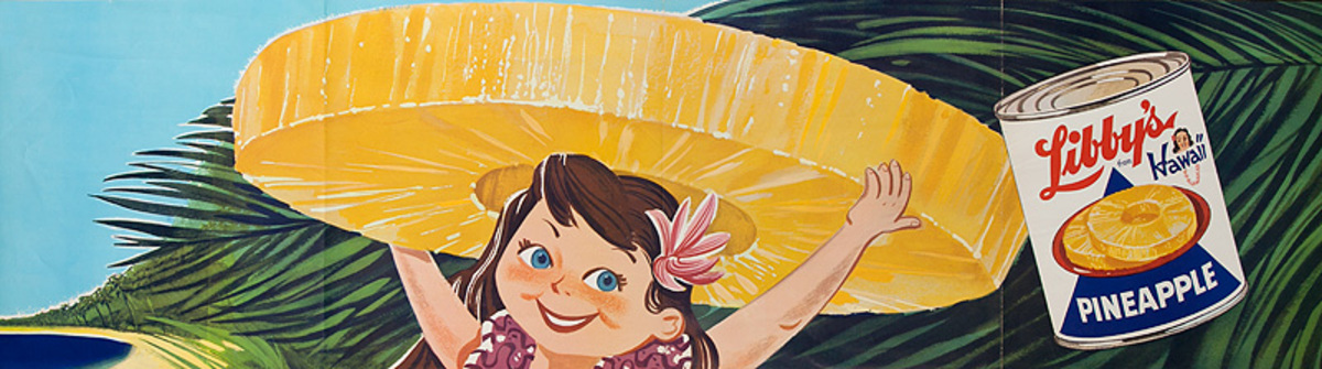 Original Libby's From Hawaii Pineapple Poster