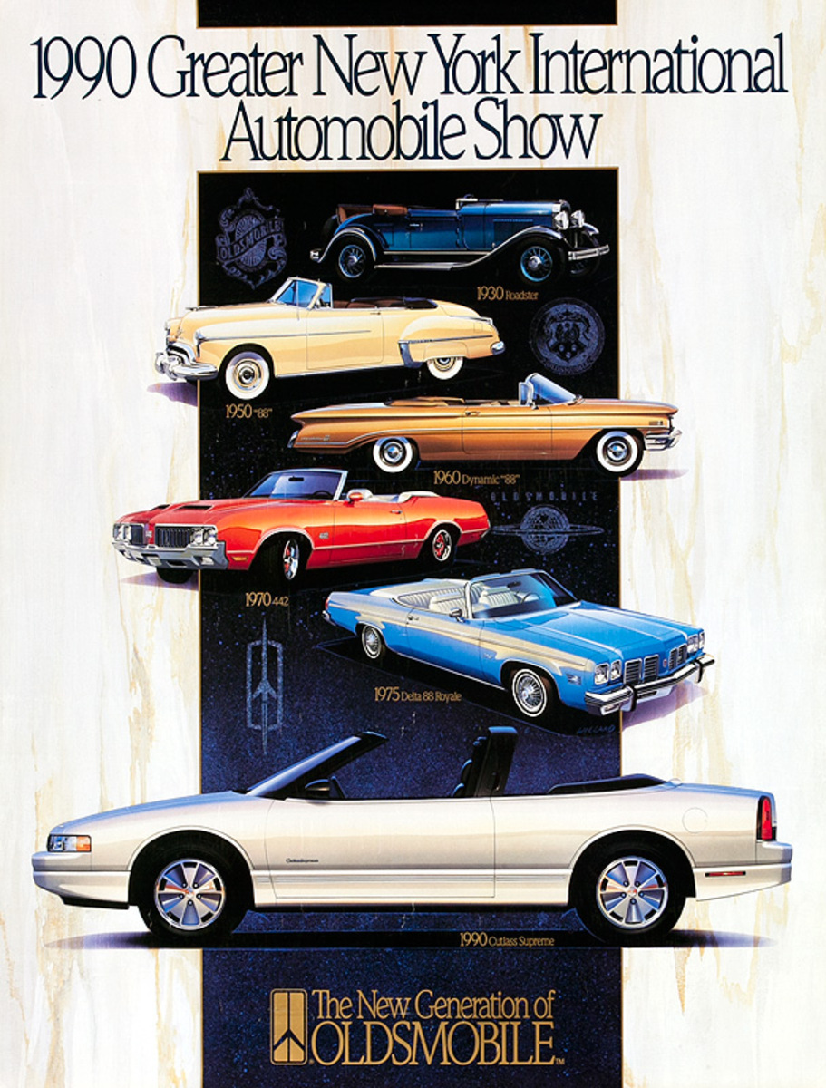 1990 Greater New York International Automobile Show Poster The New Generation of Oldsmobile