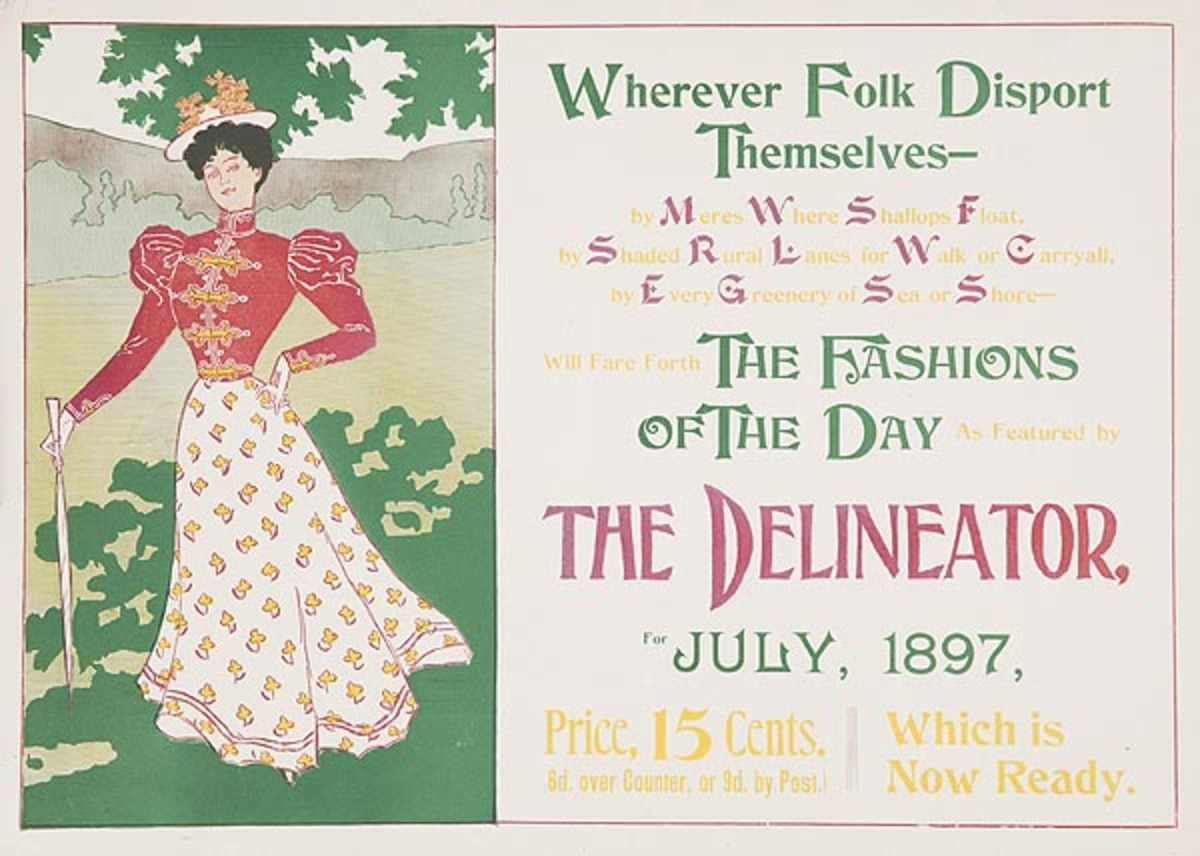 The Delineator July 1897 Original American Literary Poster