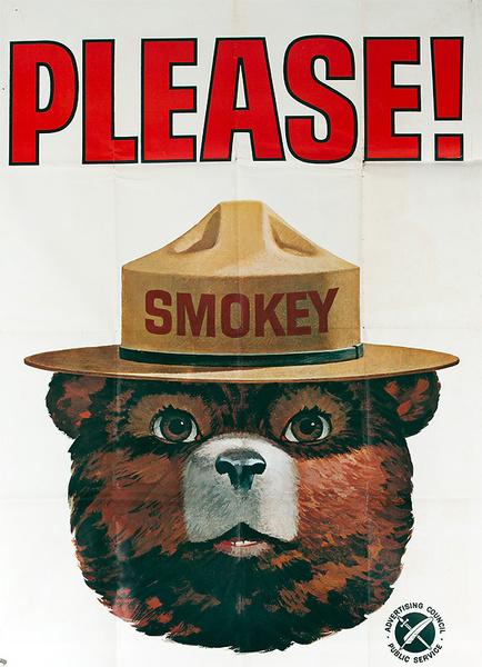 Smokey PLEASE! Original Ad Council Public Service Poster