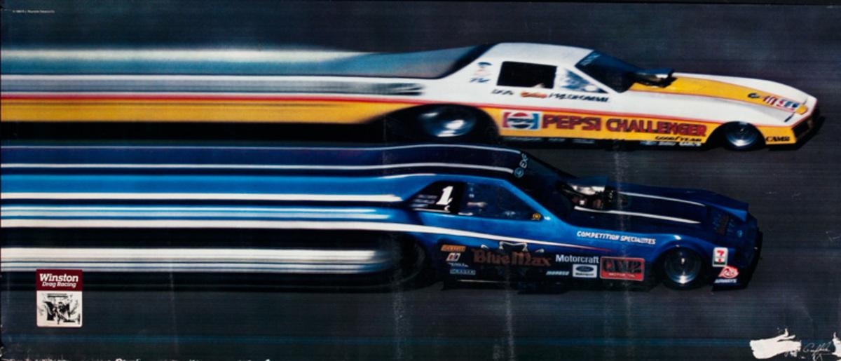 Winston Drag Racing Original American Motor Sports Poster