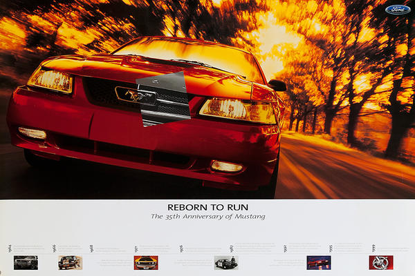 Born to Run 35th Anniversary Mustang Poster