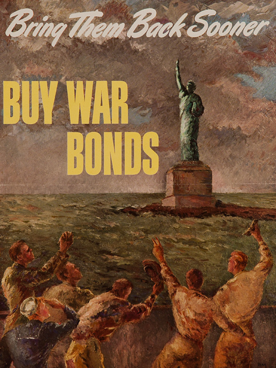 Bring Them Back Sooner Original Abbott Labs Buy War Bonds Poster