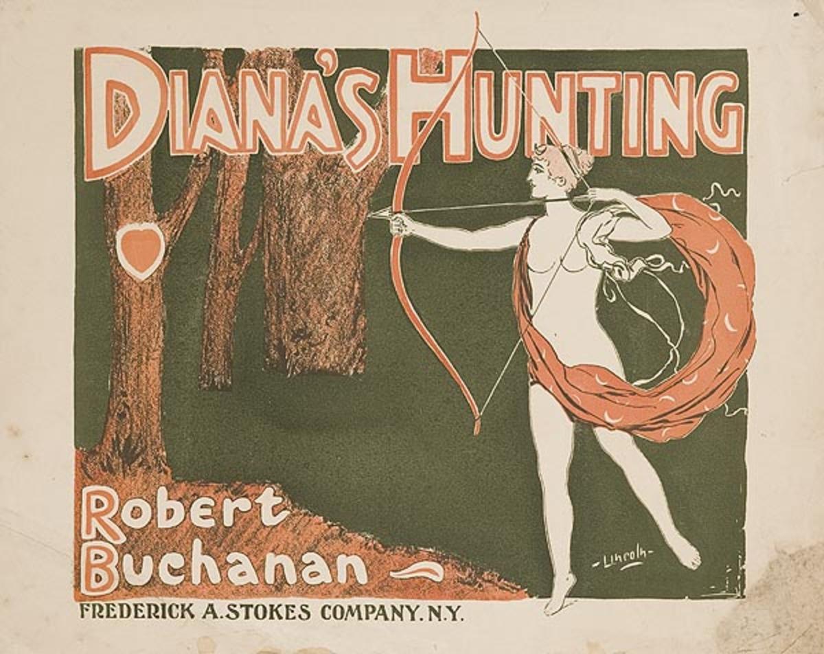 Diana's Hunting Original American Literary Poster