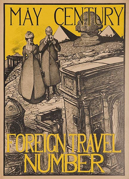 May Century Foreign Travel Number Original American Literary Poster