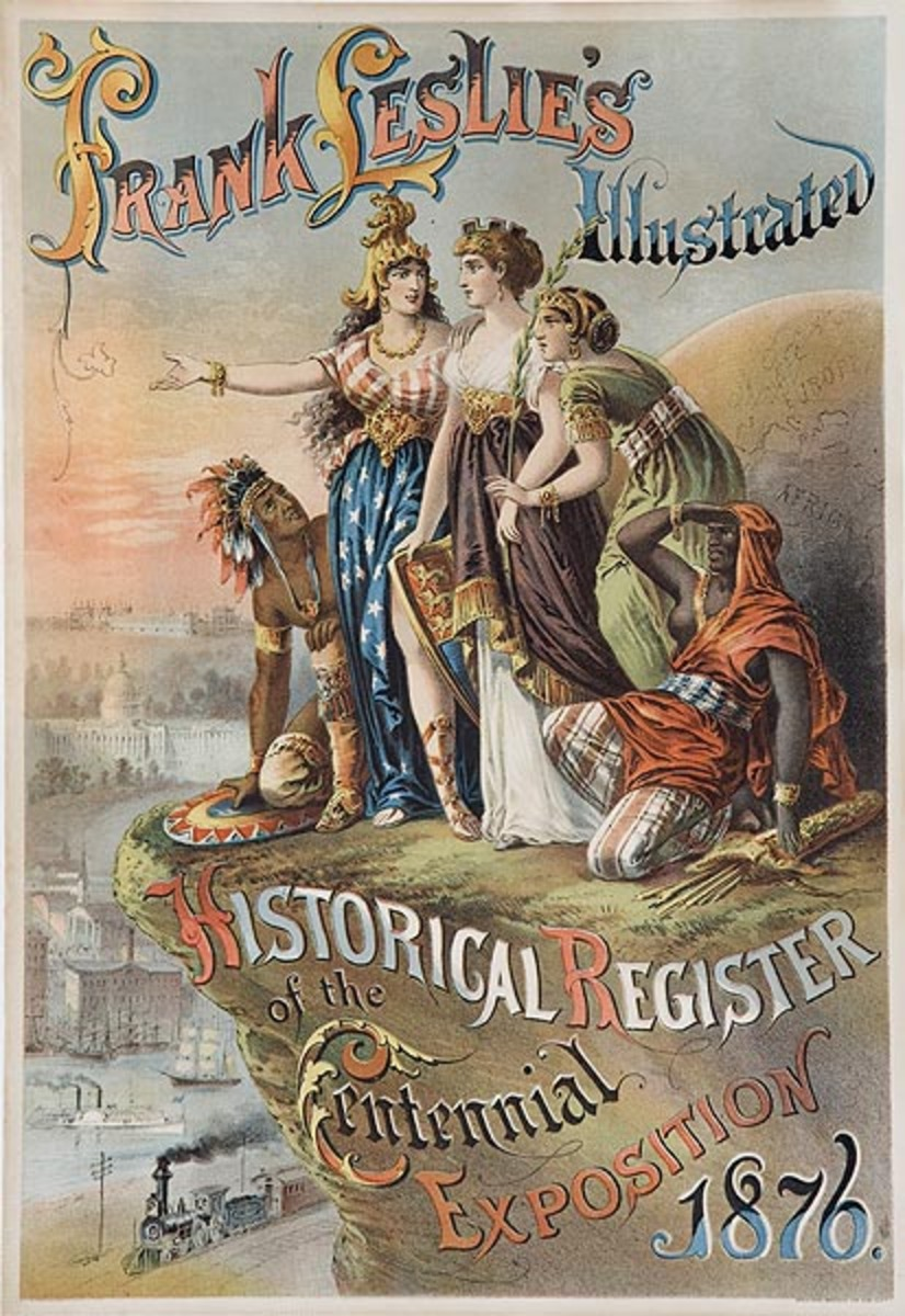 Frank Leslie's Illustrated Historical Register of the Centennial Exposition Original American Literary Poster