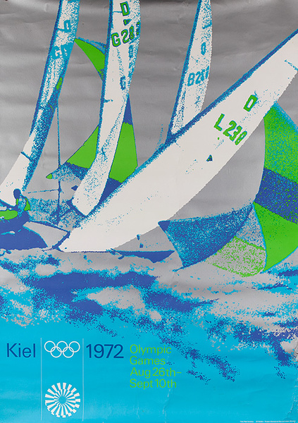 Kiel 1972 Olympic Games Original Munich Sailing Poster