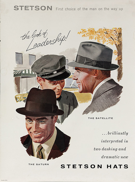Stetson The Look of Leadership Original American Hat Advertising Poster