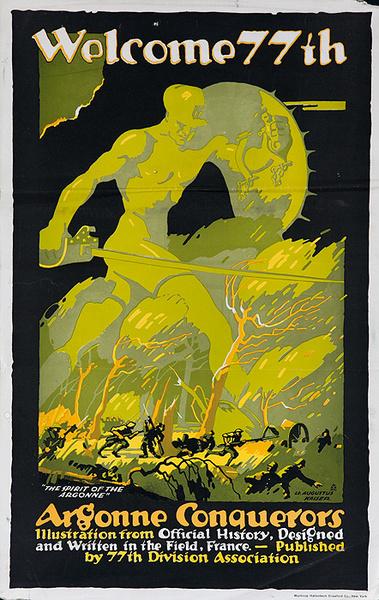 Welcome 77th, Argonne Conquerors. Original American WWI