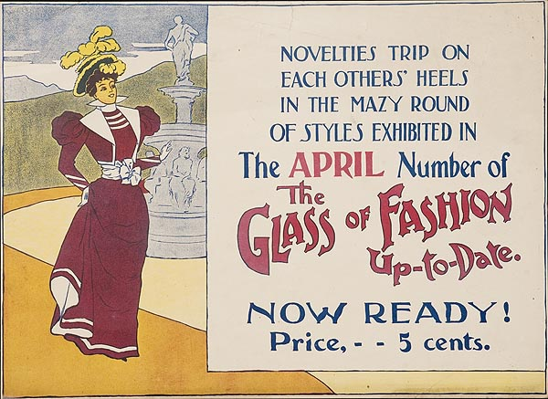 The Glass of Fashion Up To Date Original American Literary Poster