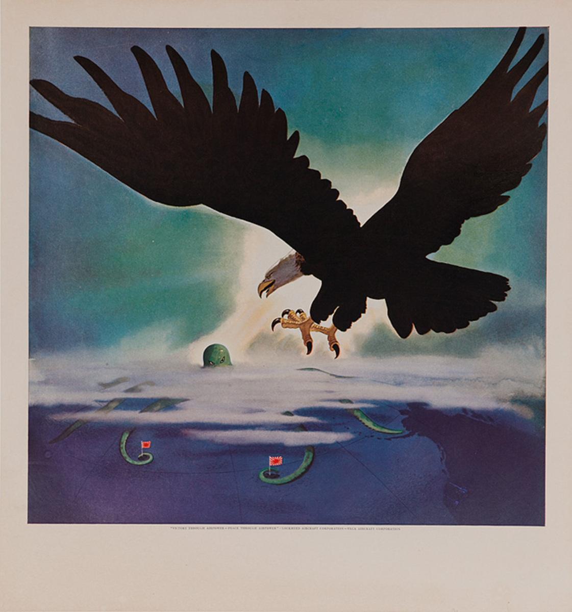 Victory Through Air Power Original WWII Lockheed Arcraft Poster