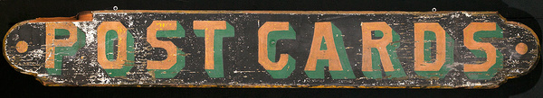 Polychrome Post Card Trade Sign
