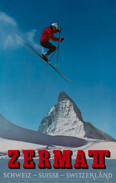 Zermatt, Schweiz Suisse Switzerland Original Ski Poster