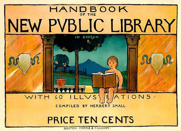 Handbook of the New Public Library In Boston Original American Literary Poster