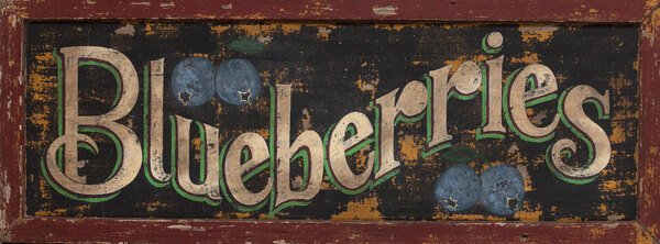 Polychrome Blueberry Trade Sign