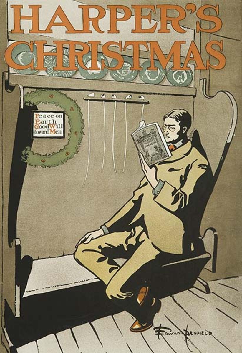 Harper's Christmas Original American Literary Poster