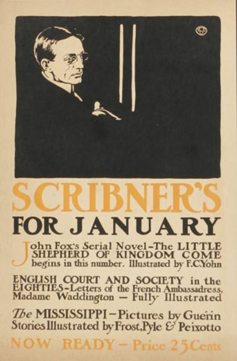 Harpers Magazine January Original American Literary Poster