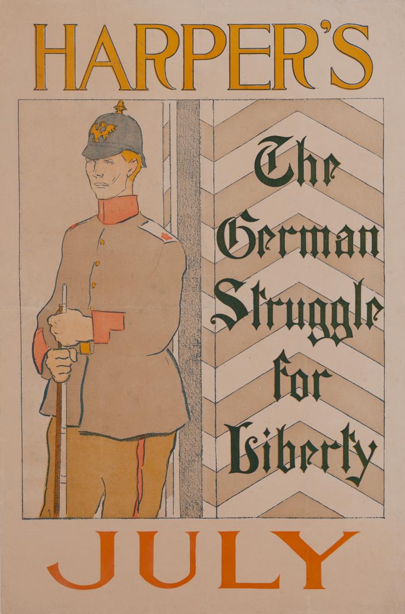 Harper's Magazine July1895, The German Struggle Original Vintage Literary Poster