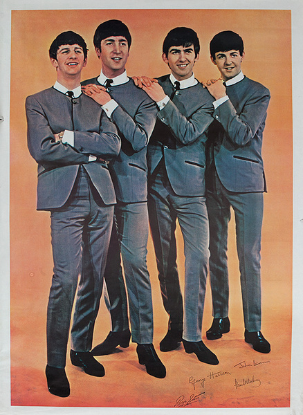 Original Beatles Rock and Roll Poster Fab Four