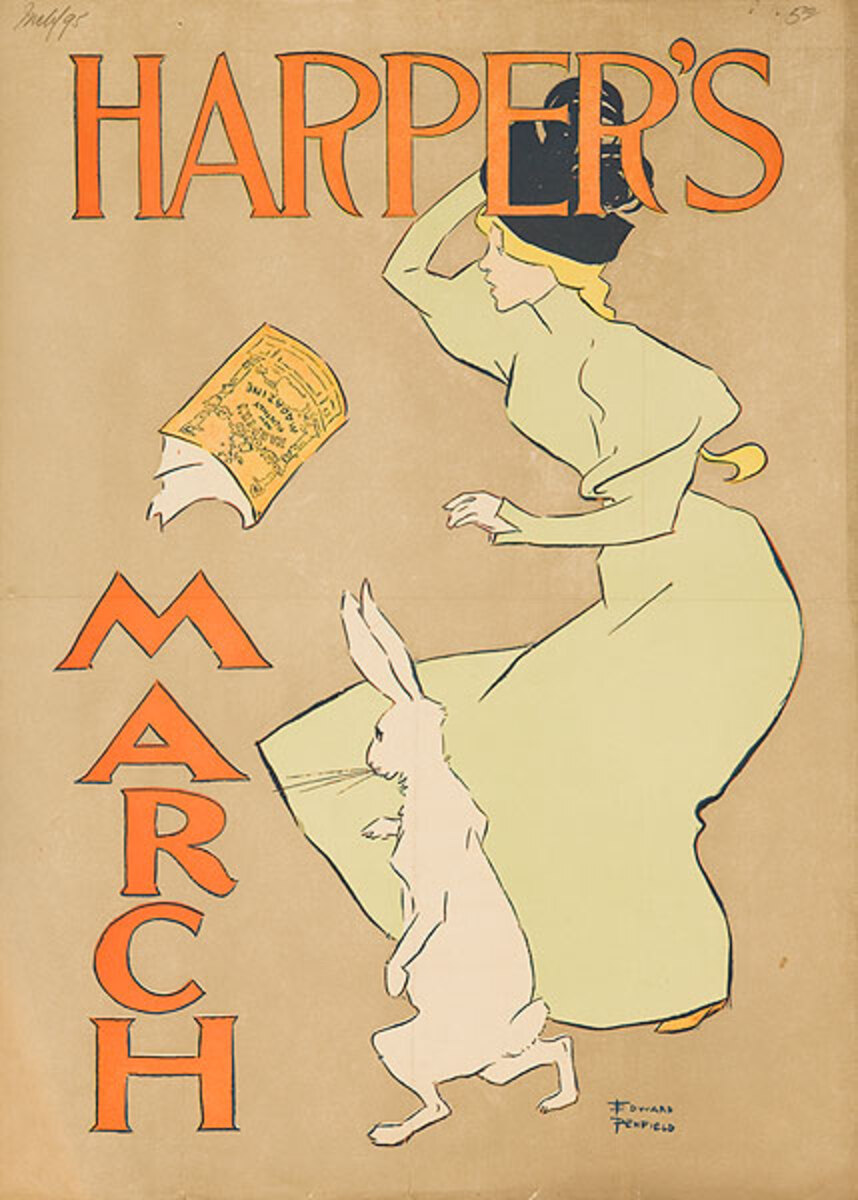 Harper's March 1895 Original American Literary Poster