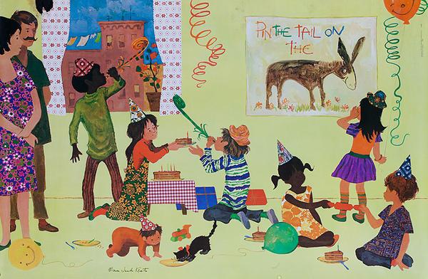 Original Ezra Jack Keats Children's Poster Home