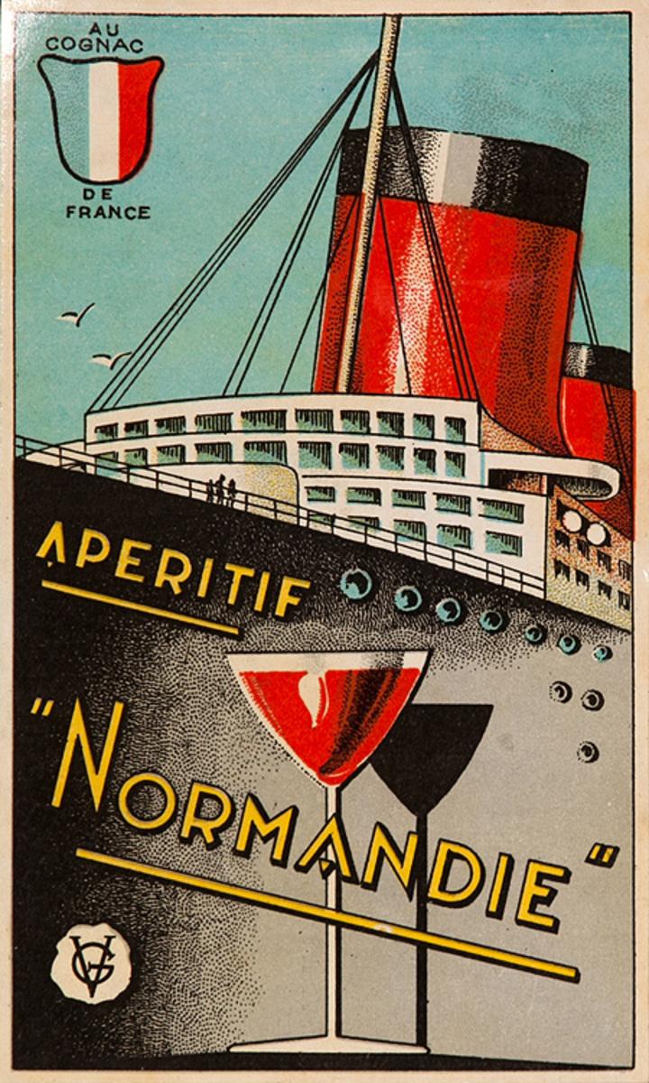 Apertif Normandie Original Wine Bottle Label