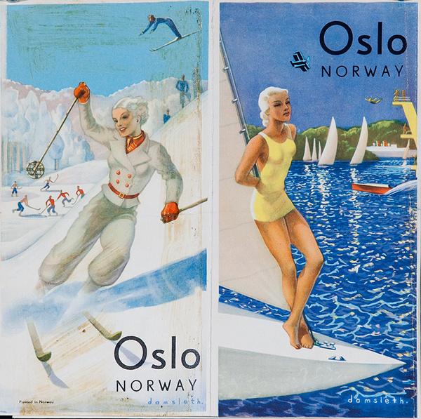 Oslo Original Travel Brochure Winter Summer