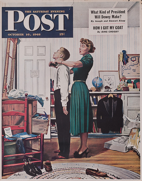 Saturday Evening Post October 16, 1948 Original Advertising Poster