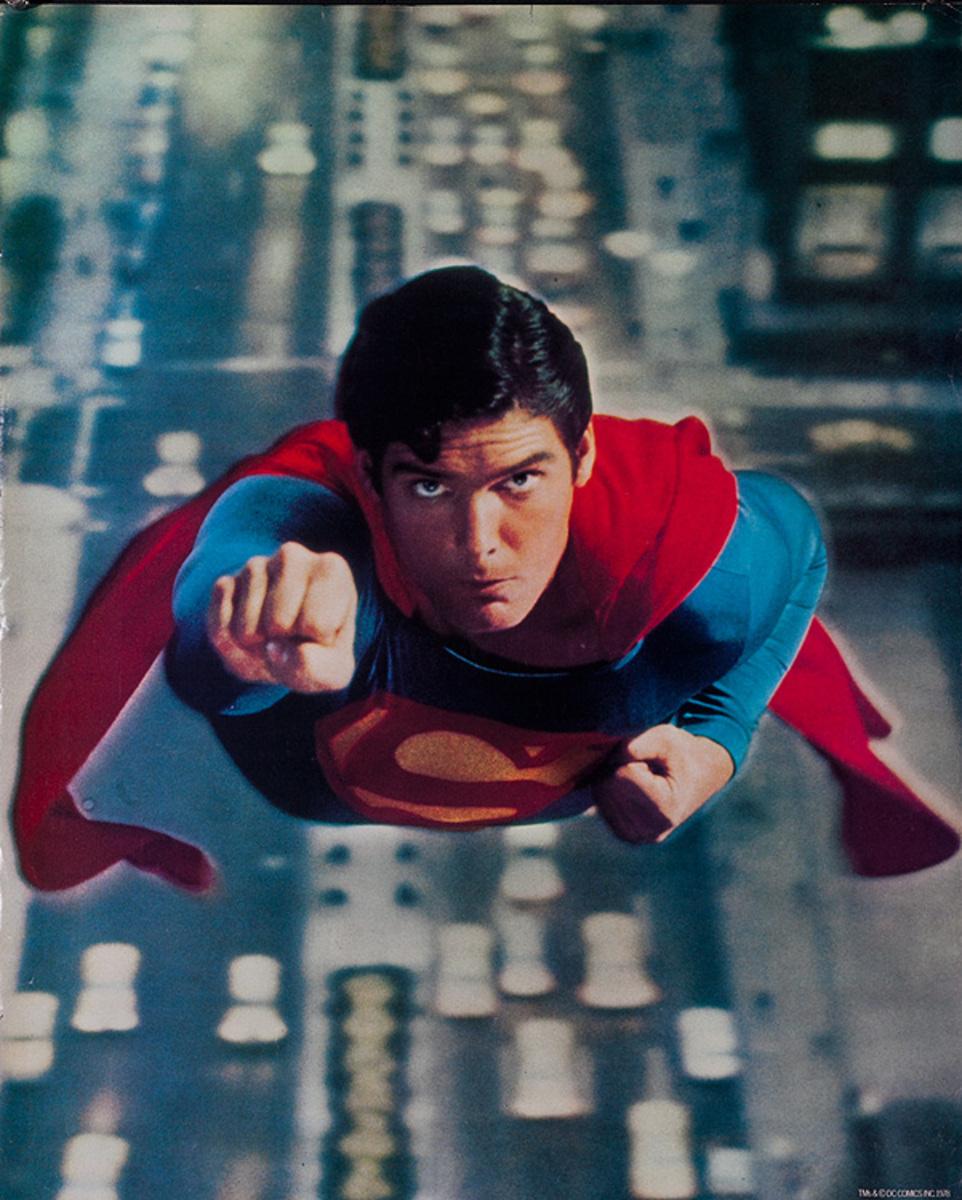 Superman 1978 Christopher Reeve Safegaurd Soap Giveaway Poster Vertical