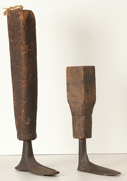 Pair of 19th Century Wood and Iron Shoemaking Lasts