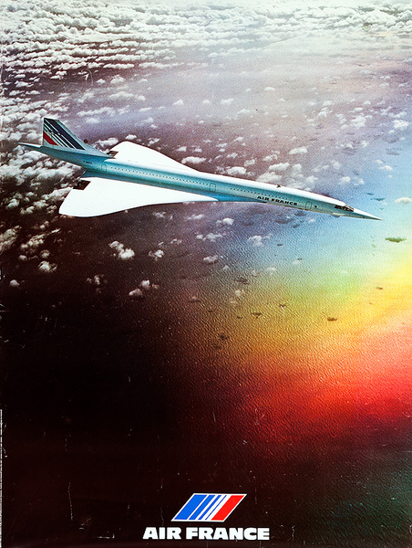Air France Concorde Original Travel Poster
