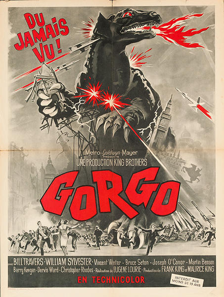 Gorgo Original French Horror Movie Poster
