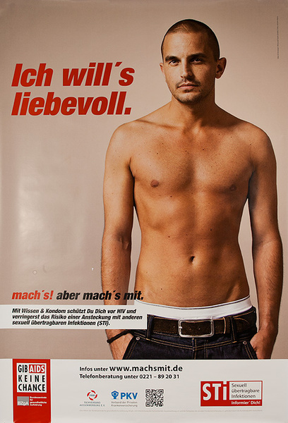 German AIDs Health Poster I Want Loving