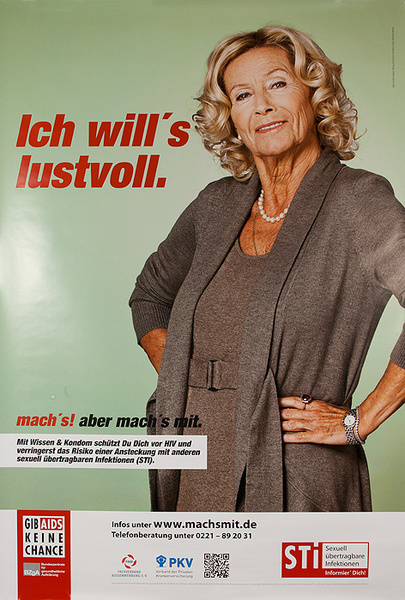 German AIDs Health Poster I Want to Relish