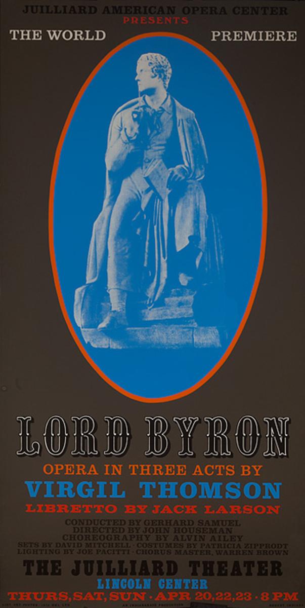 Lincoln Center Original Juilliard School Poster Lord Byron