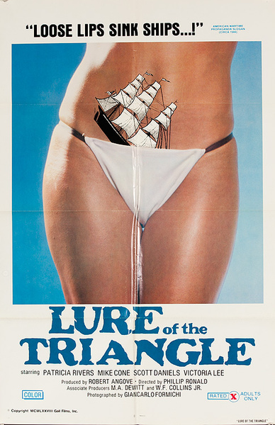 Lure of the Triangle Original X Rated Movie Poster