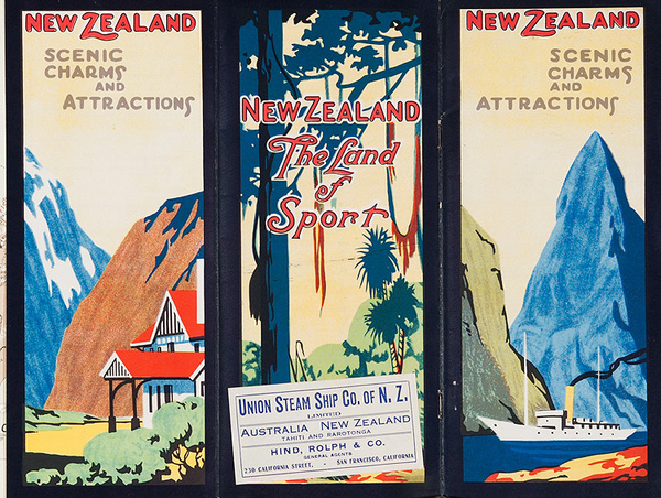 New Zealand Scenic Charm and Attractions Original Travel Brochure
