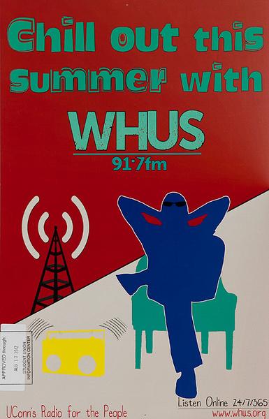 WHUS Original Connectict Radio Station Advertising Poster