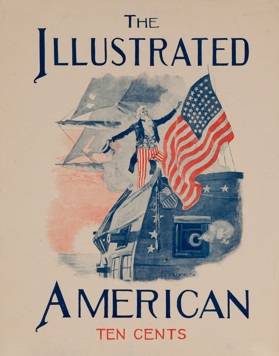 The Illustrated American Uncle Sam Original American Literary Poster