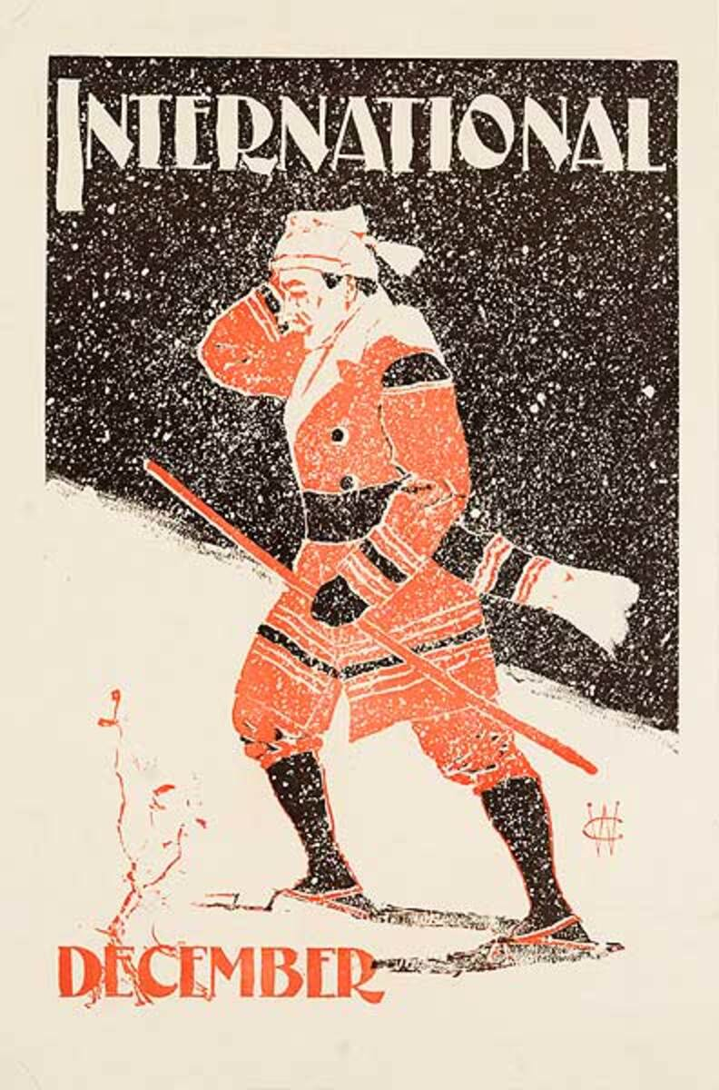 International Magazine December Original American Literary Poster