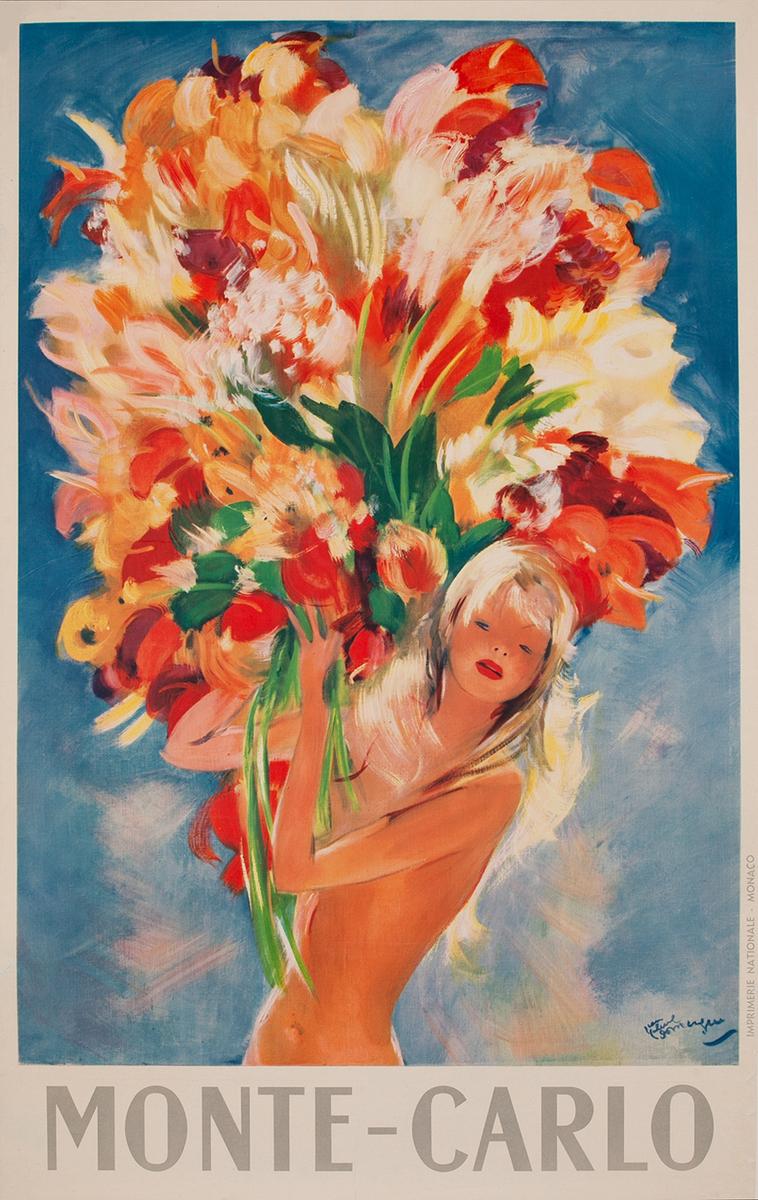 Monte Carlo Travel Poster Flower Girl