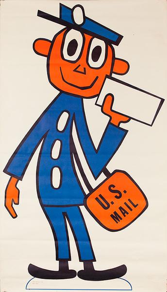 Mr. Zip Code Original American Postal Service Poster