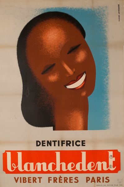 Blanchedent Dentifrice Original French Toothpaste Poster
