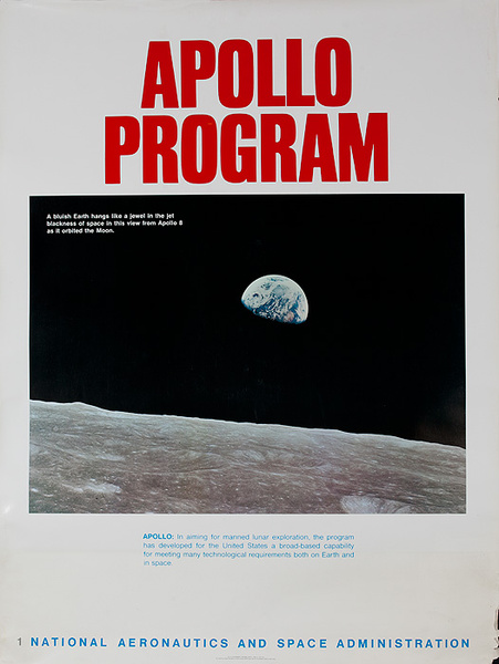 NASA Apollo Program Educational and Science Poster #1 Earth From Space