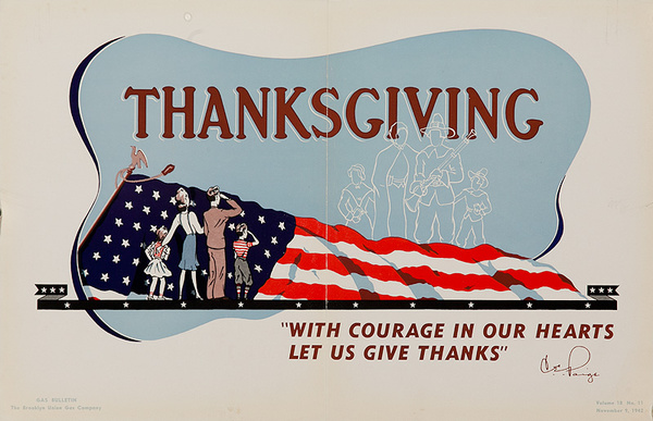Thanksgiving Original American WWII Home Front Poster