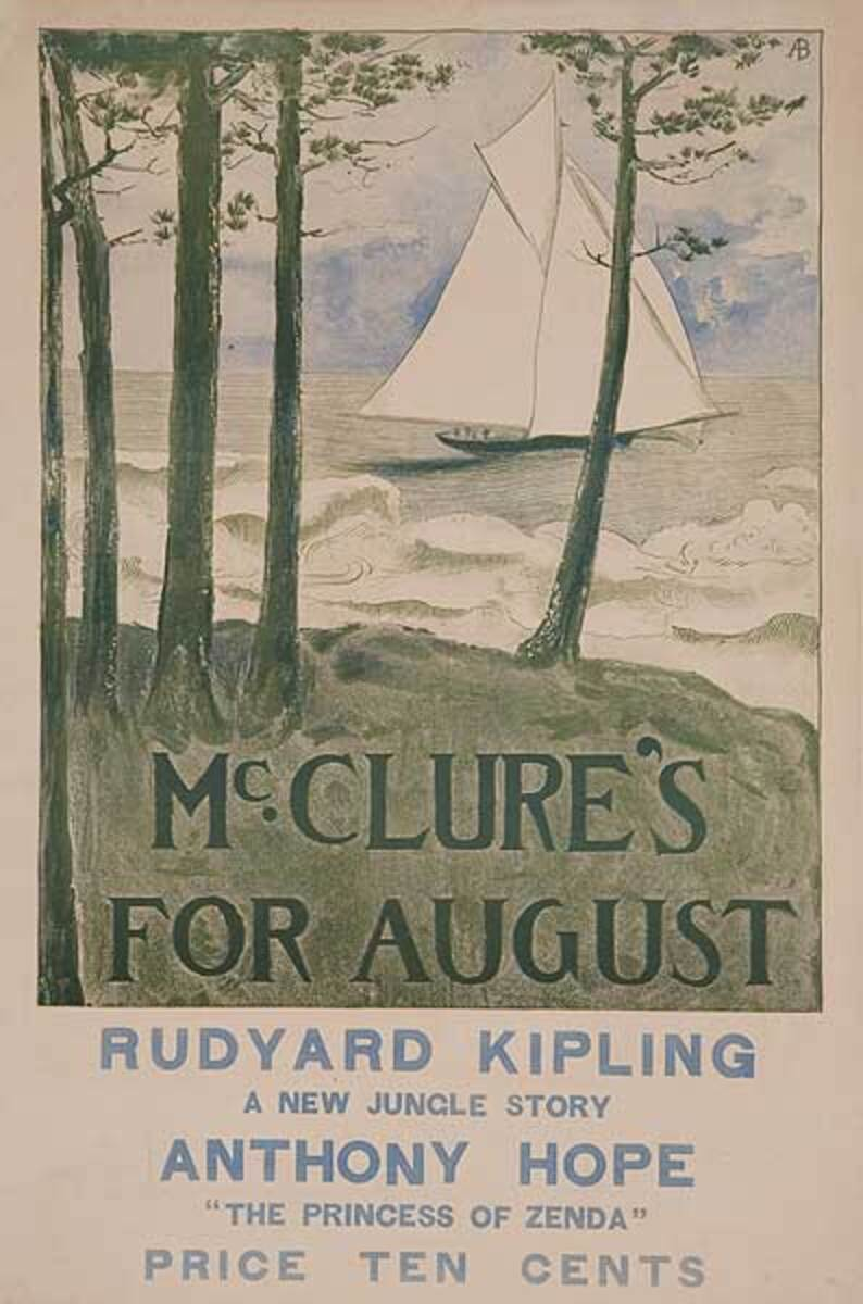 McClure's For August Original American Literary Poster